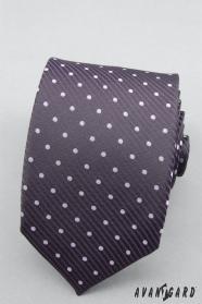Lila pontokkal nyakkendő