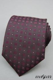 Lila nyakkendő négyzetmintás