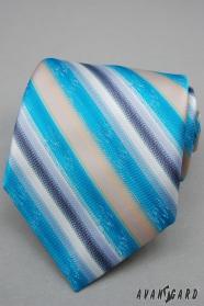 Türkiz nyakkendő széles csíkkal