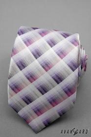 Kockás nyakkendő rózsaszín, lila