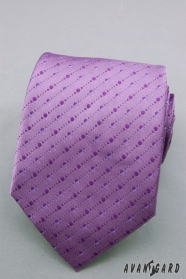 Lila nyakkendő finom pontokkal