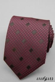 Bordó kockás nyakkendő