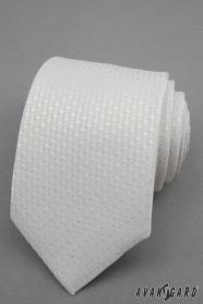 Fehér nyakkendő ezüst pontokkal