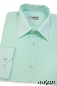 Zöldes klasszikus szabású hosszú ujjú ing