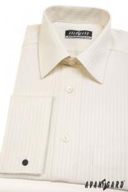 Krémszínű klasszikus szabású mandzsettás ing