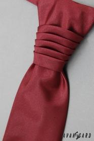 Bordó sima esküvői nyakkendő díszzsebkendővel