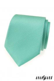 Menta színű LUX nyakkendő finom mintával
