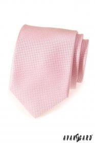 Rózsaszín strukturált LUX nyakkendő férfiak számára