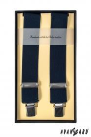 Luxus sötétkék négypontos nadrágtartók