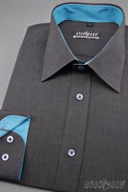 Férfi grafit ing türkiz kiegészítőkkel