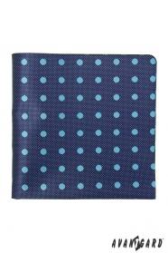 Kék mintás díszzsebkendő világos ponttal