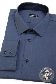 Kék slim ing hosszú ujjú, kék gombokkal