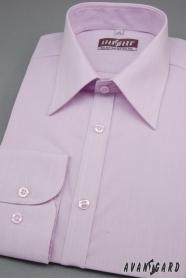 Hosszú ujjú slim fit lila férfiing
