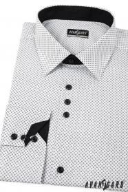 Fehér slim ing, fekete kiegészítőkkel - hosszú ujjú