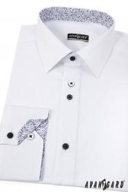 Modern fehér slim ing hosszú ujjú