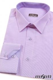 Finom mintás lila hosszú ujjú férfiing