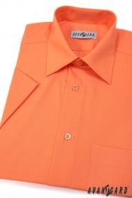 Klasszikus szabású narancssárga rövid ujjú férfiing