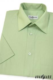 Klasszikus szabású zöld rövid ujjú férfiing