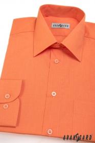 Klasszikus szabású narancssárga hosszú ujjú férfiing