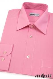 Rózsaszín klasszikus szabású hosszú ujjú férfiing