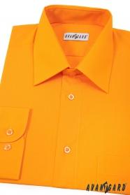 Világos narancssárga szabású rövid ujjú férfiing