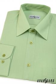 Zöld klasszikus szabású hosszú ujjú ing