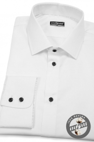 Fehér férfi ingék, 100% pamut