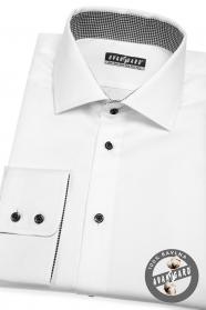 Fehér férfi klasszikus stílusú ing fekete gombokkal
