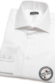 Fehér klasszikus szabású hosszú ujjú ing