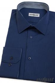Avantgard kék hosszú ujjú férfi ing