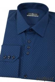 Kék pöttyös férfi ing hosszú ujjú