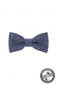 Csillag mintás kék fiú csokornyakkendő MINI