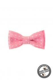 Fiúk rózsaszín nyakkendő, fehér pöttyökkel
