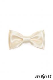 Mini luxus csokornyakkendő - Krémszín