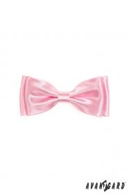 Fénylő rózsaszín fiú csokornyakkendő