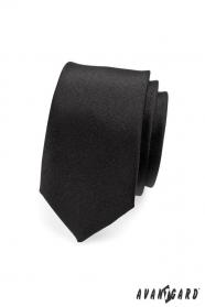 SLIM fekete nyakkendő MAT