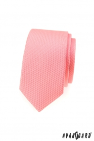 Strukturált keskeny nyakkendő lazac színben