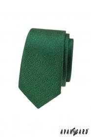 Zöld keskeny nyakkendő texturált felülettel