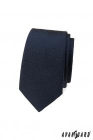 Sötétkék sima keskeny nyakkendő