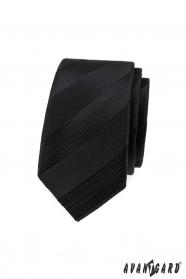 Fekete férfi keskeny csíkos nyakkendő