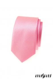 Keskeny Avantgard nyakkendő, rózsaszín kocka
