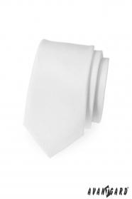 Keskeny nyakkendő fehér matt