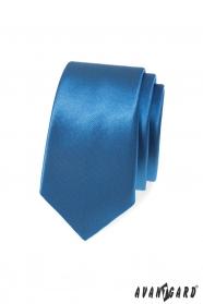 Kék, sima keskeny nyakkendő