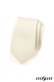 Keskeny, krémes matt Avantgard nyakkendő