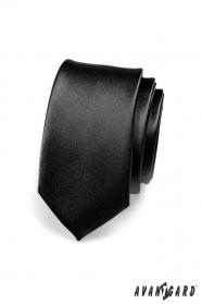 Fekete slim nyakkendő