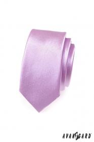 Keskeny nyakkendő, lila fényes
