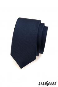 Sötétkék slim férfi nyakkendő