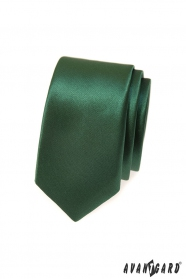 Sötétzöld slim nyakkendő