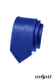 Keskeny slim kék, fényes nyakkendő