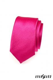 Férfi keskeny fukszia nyakkendő